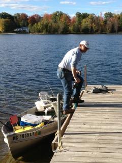 Fishing Rowboat Michigan Lake
