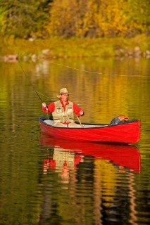 Fly Fishing From Canoe