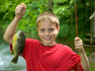 Kid with Big Bluegill