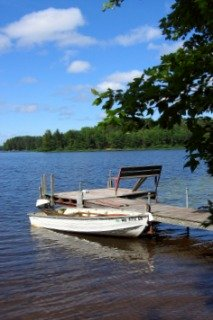 Fishing Dock on a Wisconsin Lake